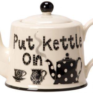 Moorland Pottery Put Kettle On Teapot -0