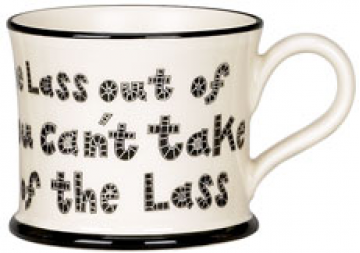Moorland Pottery Lass Out Of Yorkshire Mug Gift Boxed-1391