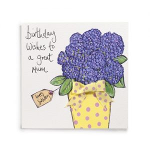 Janie Wilson Birthday Wishes to a Great Mum Card-0