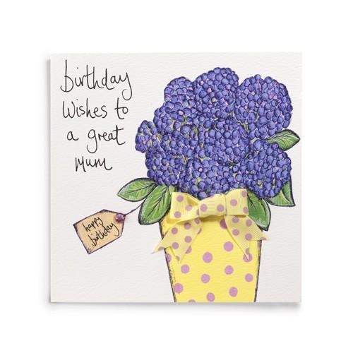 Janie Wilson Birthday Wishes to a Great Mum Card-0