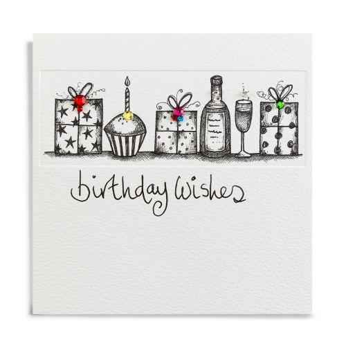 Janie Wilson Crystal Birthday Wishes Diamond Card-0