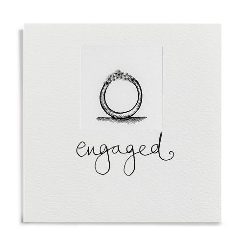 Janie Wilson Crystal Engagement Diamond Ring Card-0