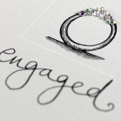 Janie Wilson Crystal Engagement Diamond Ring Card-1439