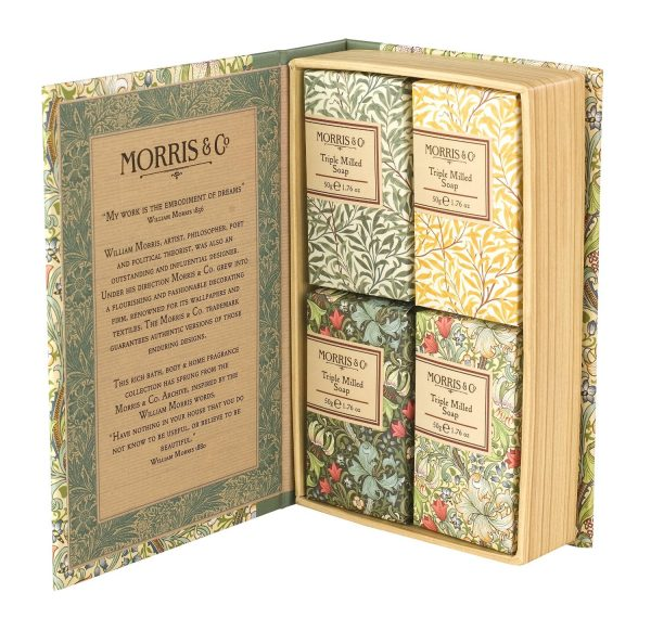William Morris & Co Golden Lily Guest Soap Collection Gift Boxed-0