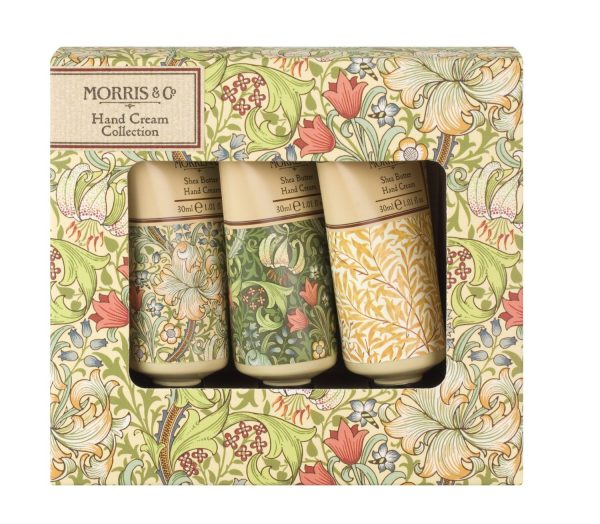 William Morris & Co Golden Lily Set Of 3 Hand Creams Gift Boxed-0