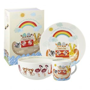Little Rhymes Noah's Ark 3 Piece Breakfast Set Gift Boxed-0