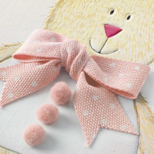 Janie Wilson Christening Card Pink-1452