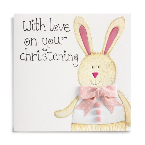 Janie Wilson Christening Card Pink-0