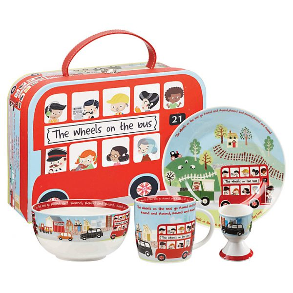 Little Rhymes Wheels On The Bus Breakfast Set Gift Boxed-0