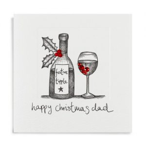 Janie Wilson Happy Christmas Dad Card-0