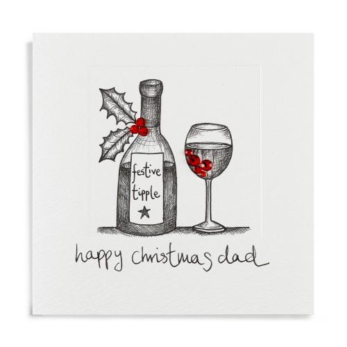 Janie Wilson Happy Christmas Dad Card-0