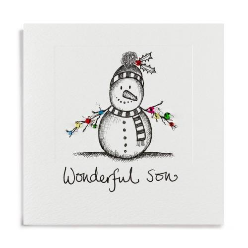 Janie Wilson Wonderful Son Christmas Card-0