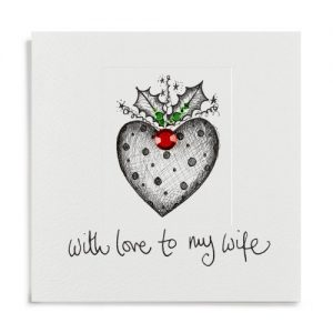 Janie Wilson Wife Heart Christmas Card-0