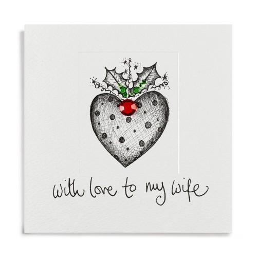 Janie Wilson Wife Heart Christmas Card-0