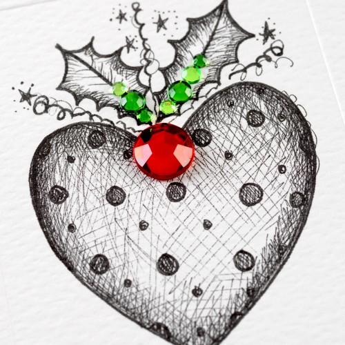 Janie Wilson Wife Heart Christmas Card-1499