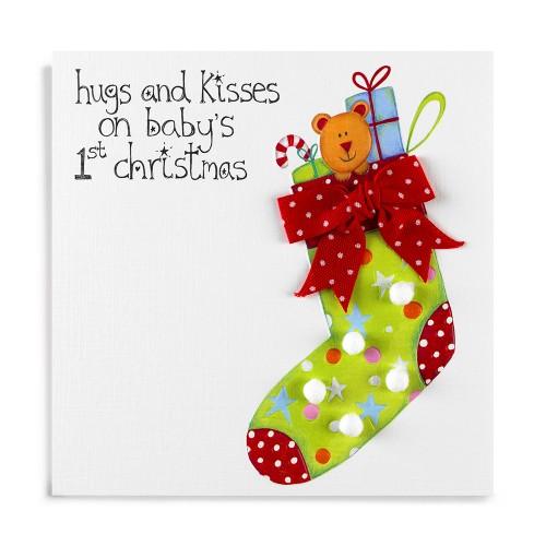 Baby's 1st Christmas Card-0