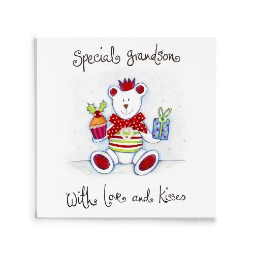 Janie Wilson Special Grandson Christmas Card-0