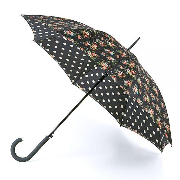 Cath Kidston Kingswood Rose Charcoal Bloomsbury Umbrella -0