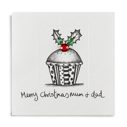 Janie Wilson Merry Christmas Mum & Dad Card-0