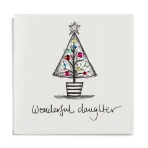 Janie Wilson Wonderful Daughter Christmas Card-0