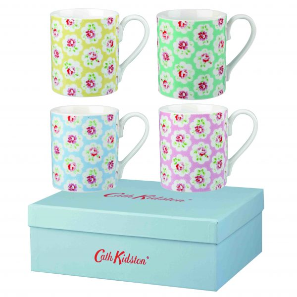 Cath Kidston Provence Multi Mugs Set of 4 Gift Boxed-1582