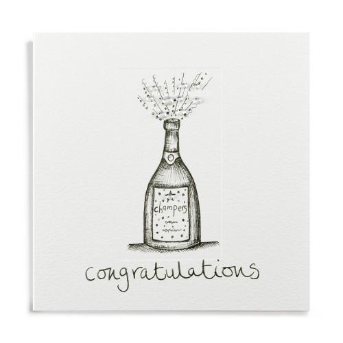 Janie Wilson Congratulations Champagne Card-0