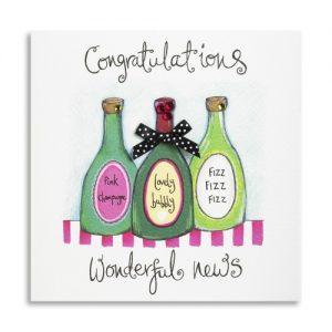 Janie Wilson Congratulations Wonderful News Card-0