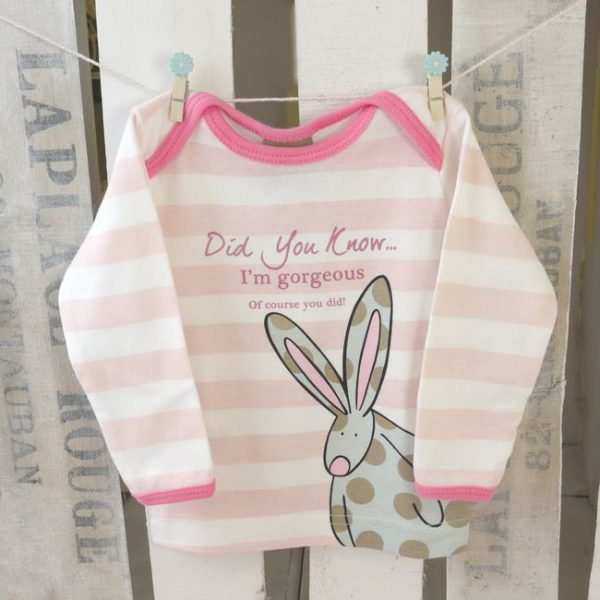 Rufus Rabbit Baby Girl Organic Cotton T-shirt-0