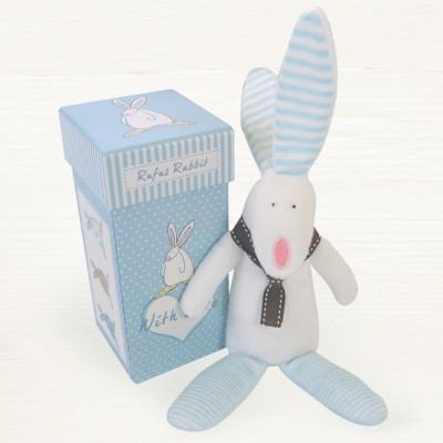 Rufus Rabbit Baby Boy Rattle-0