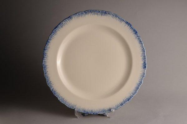 Hartley Greens Leeds Pottery Blue Shell Edge Side Plate -0