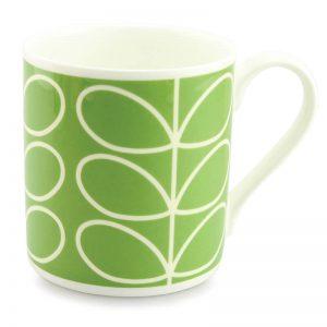 Orla Kiely Linear Stem Green Quite Big Mug-0