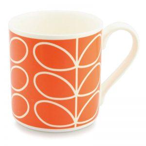 Orla Kiely Linear Stem Orange Quite Big Large Mug-0