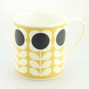 Orla Kiely Yellow Poppy Stem Quite Big Mug-0