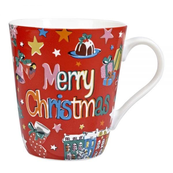 Cath Kidston Merry Christmas Red Stars Stanley Mug-0