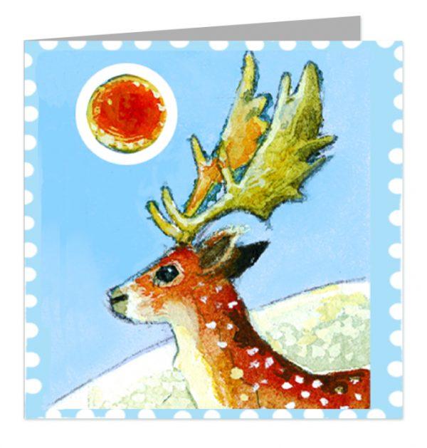 Emma Bridgewater Reindeer Stamp Christmas Cards x 5-1810