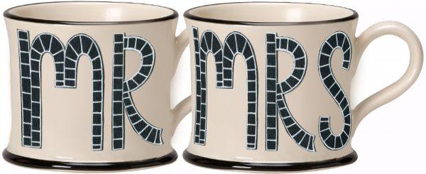 Moorland Pottery Mr & Mrs Mugs-0