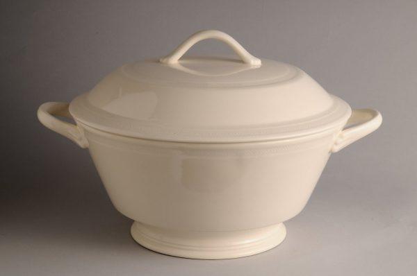 Hartley Greens Leeds Pottery Hunslet Large Covered Bowl-0