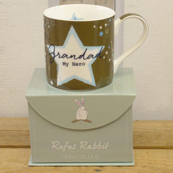 Rufus Rabbit Grandad My Hero Mug Gift Boxed-0