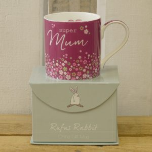 Rufus Rabbit Super Mum Mug Gift Boxed-0