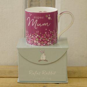 Rufus Rabbit Super Mum Mug Gift Boxed-0