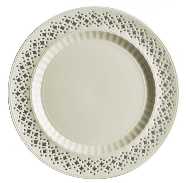 Hartley Greens & Co Leeds Pottery Creamware Pierced Salad Plate-0