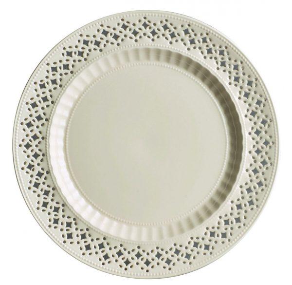 Hartley Greens & Co Leeds Pottery Creamware Pierced Side Plate-0