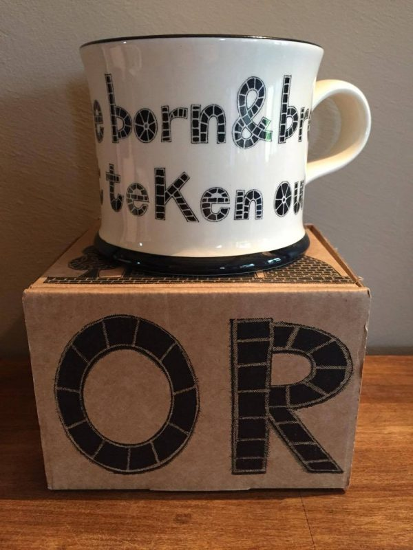Moorland Pottery Yorkshire born & bred wi'nowt teken out Mug Gift Boxed-1950