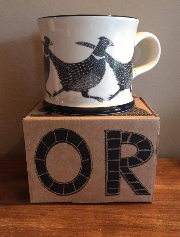 Moorland Pottery Pheasant Mug Gift Boxed-0