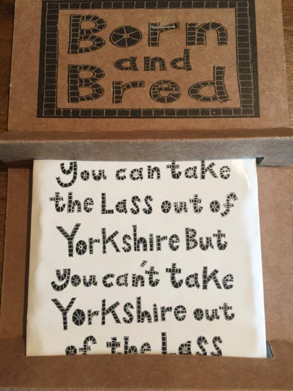 Moorland Pottery Lass Out Of Yorkshire Coaster-0