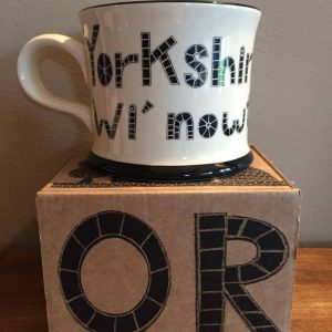 Moorland Pottery Yorkshire born & bred wi'nowt teken out Mug Gift Boxed-0