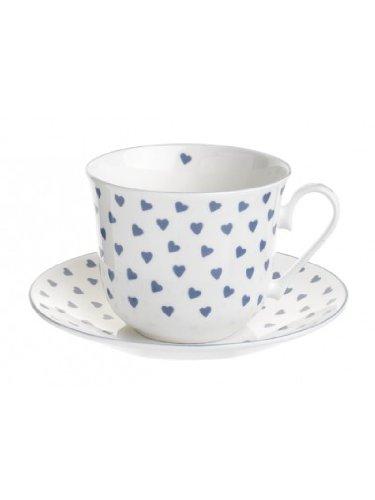 Nina Campbell Blue Heart Breakfast Cup & Saucer-0