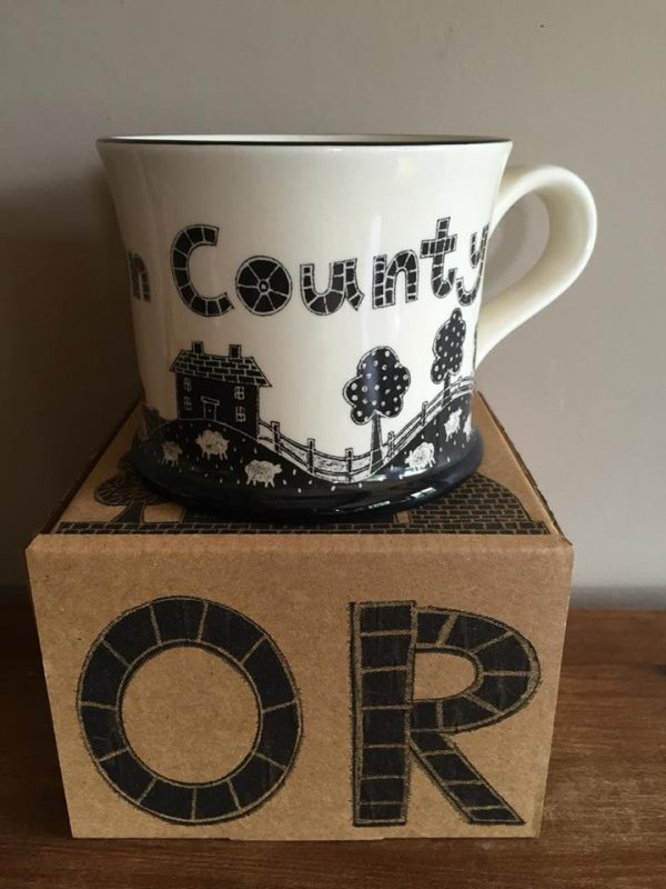 Moorland Pottery Yorkshire 'God's Own County' Mug Gift Boxed-2017