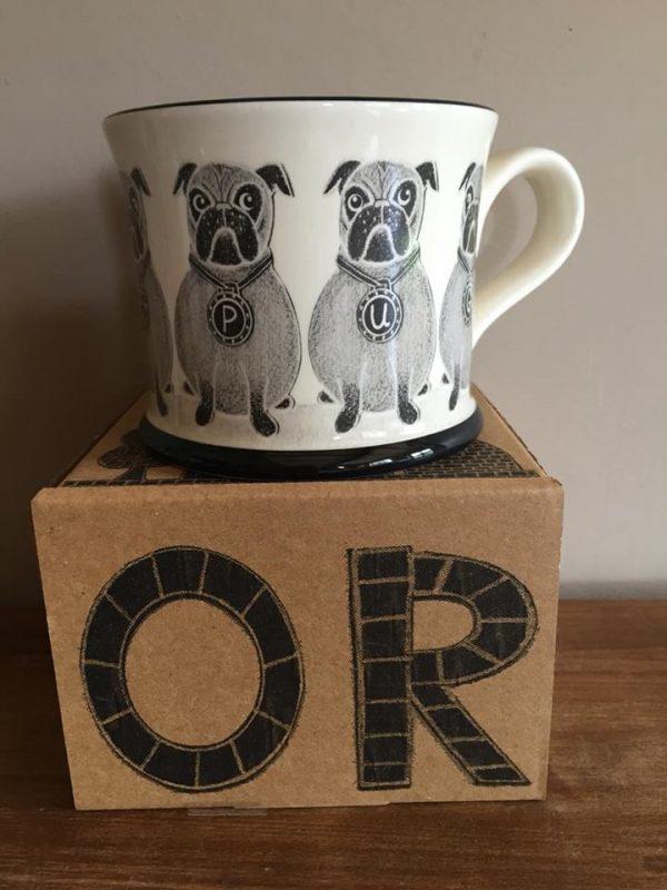 Moorland Pottery Pug Mug Gift Boxed-0