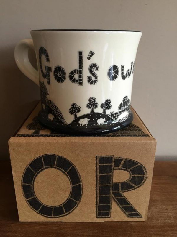 Moorland Pottery Yorkshire 'God's Own County' Mug Gift Boxed-0